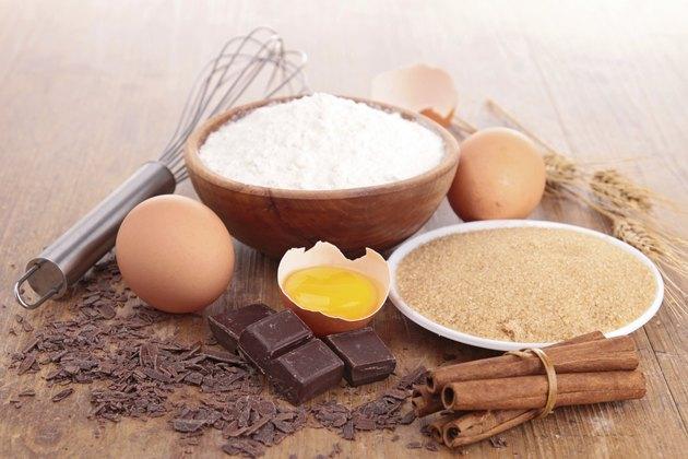 assortement of baking ingredients