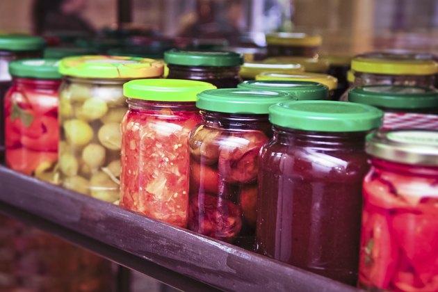 Pickled canned vegetables