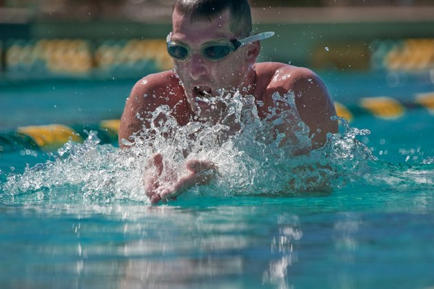Breast Stroke Swimming Race
