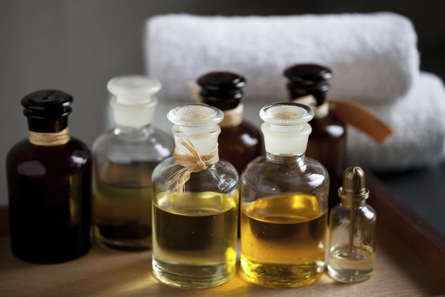 Spa oils in bottles