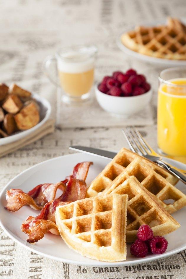 Crispy Buttermilk Waffle Breakfast