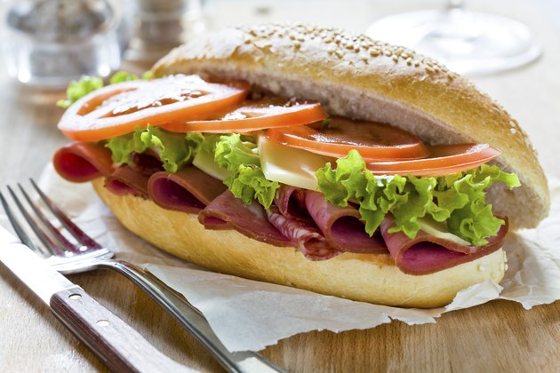 Tasty Mortadella Sandwich