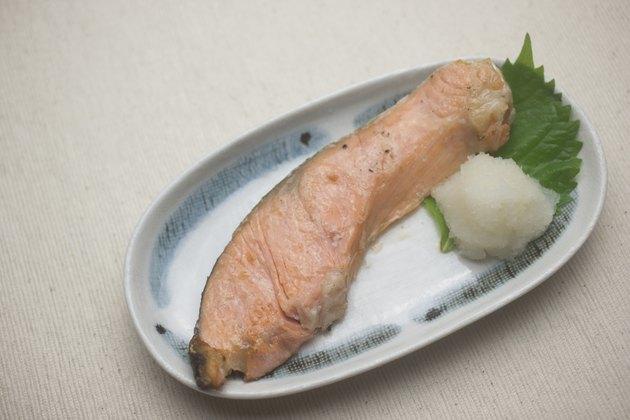 Japanese Cuisine Yakizakana (Sio-Zyake,Salted salmon)