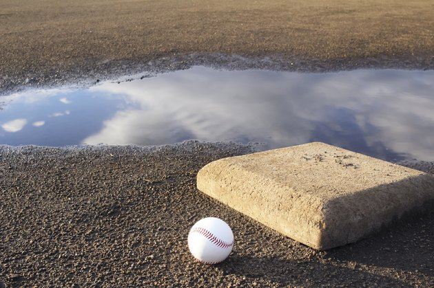 Baseball field after the rain