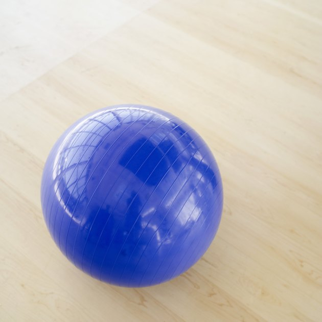 close-up of an exercise ball