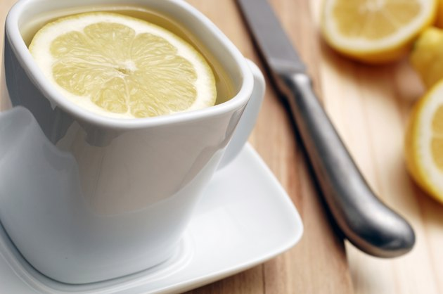 cold and flu remedy, cup of hot lemon & honey drink