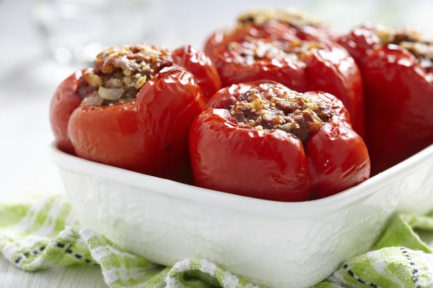 stuffed peppers with meat and bulgur