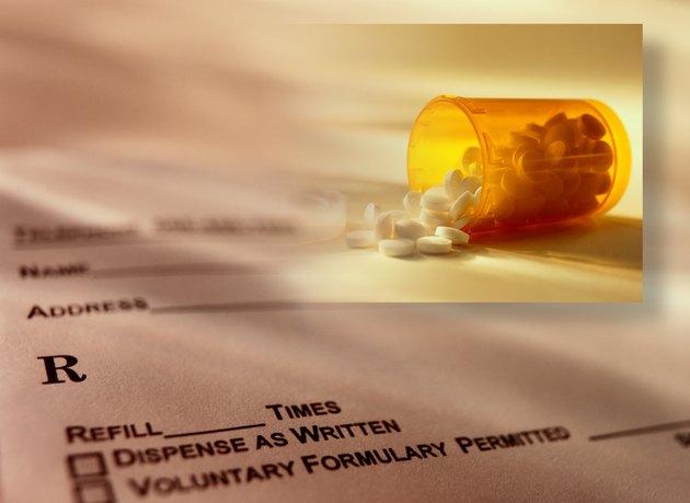 Prescription, Medicine Bottle and Tablets