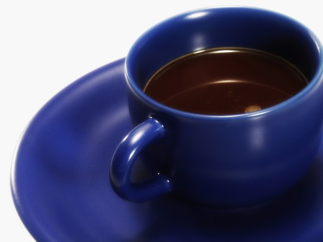 A cup and saucer