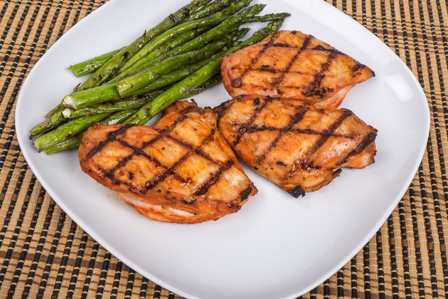Grilled Piri Piri Chicken and Asparagus