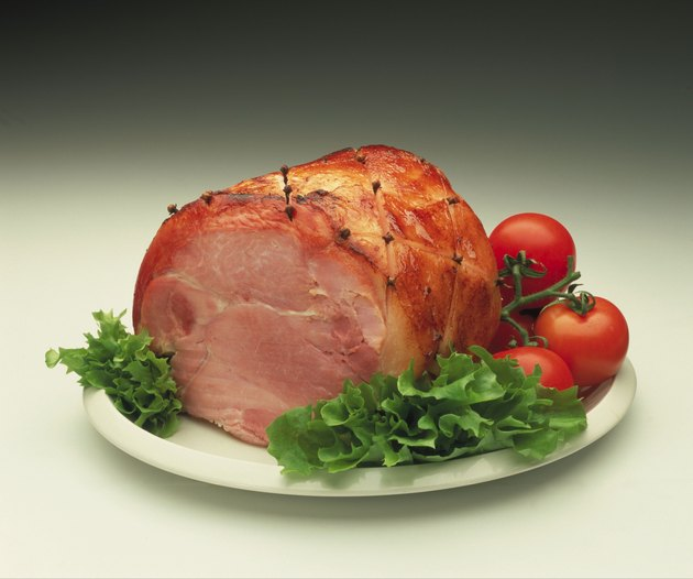 a sliced ham joint