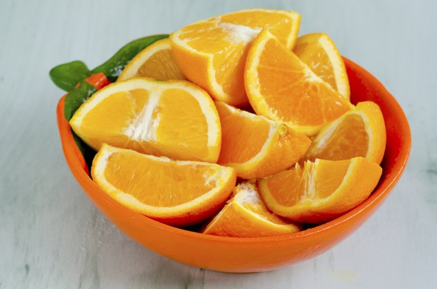 Sliced oranges in a bowl