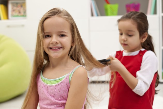 Combing hair