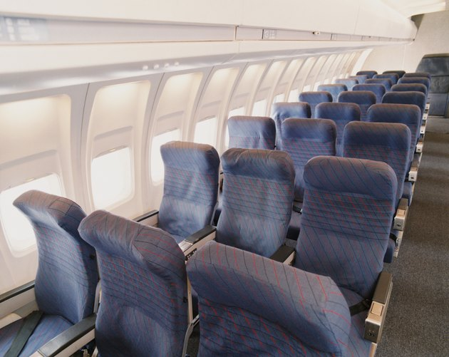 Rows of Empty Seats on a Plane