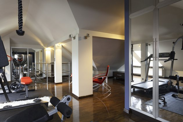Private gym in a home