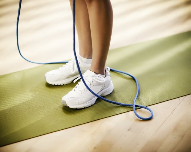 Female Lower Body With a Jump Rope