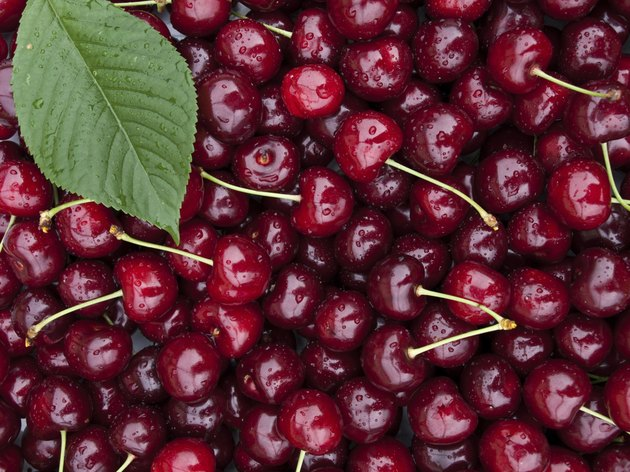 sweet red cherry background