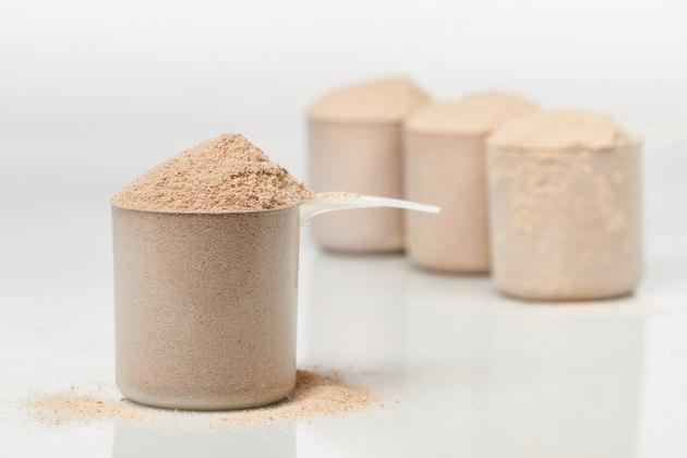 Chocolate whey isolate protein scoop