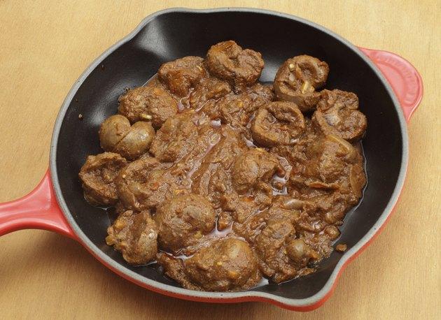 Lamb kidney bhuna style curry