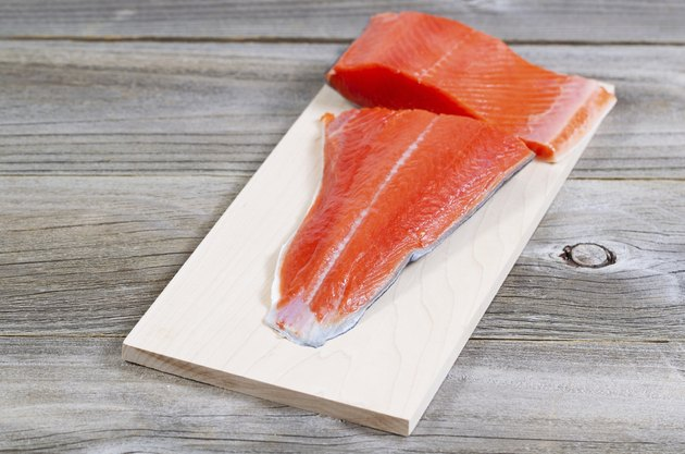 Fresh Salmon fillet ready to cook