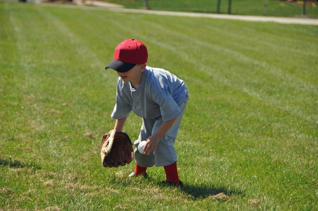 little baseball fielder