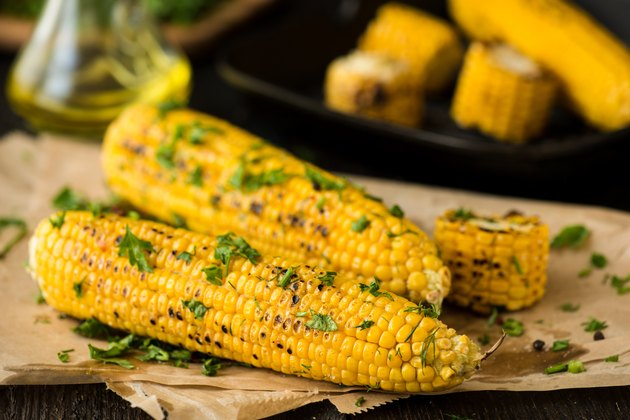 Grilled Corn on the cob with Chili, Cilantro, and Lime