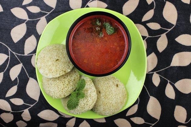 South Indian food Idly Sambhar