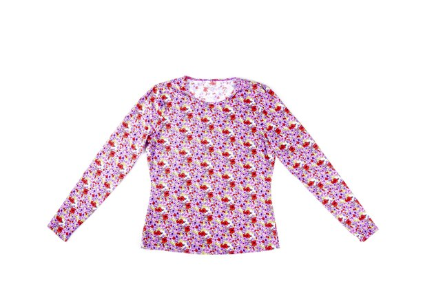 Colorful Floral Blouse Isolated on White