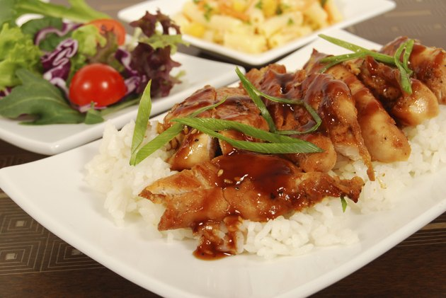 Chicken teriyaki on rice