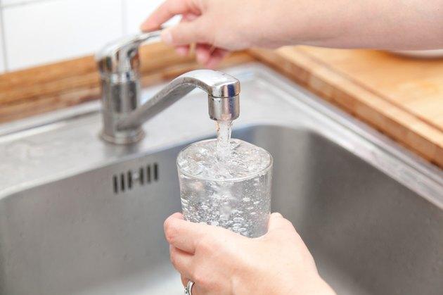 woman tap water