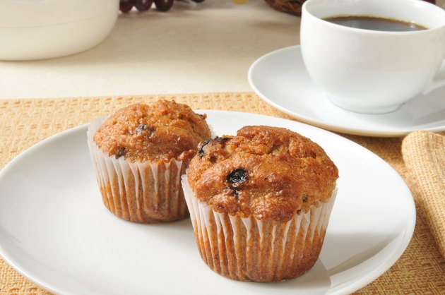 Bran muffins and coffee
