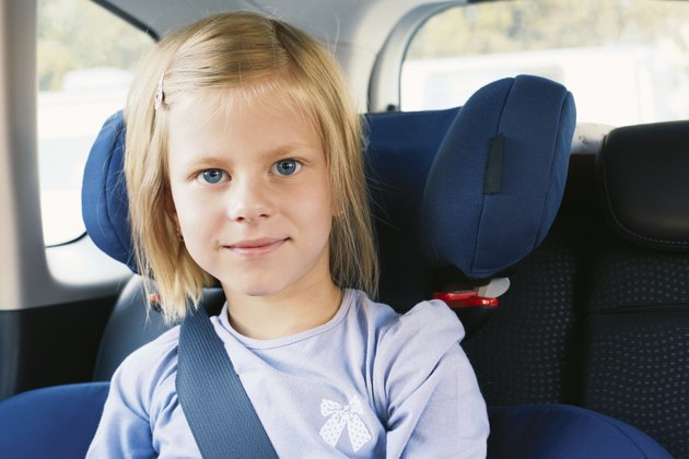 Girl in the car seat