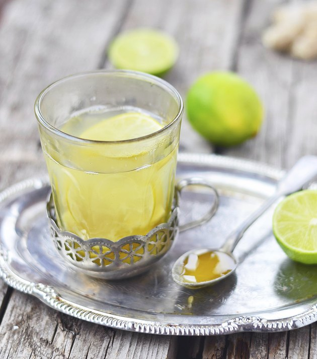 ginger ,lime and honey hot drink