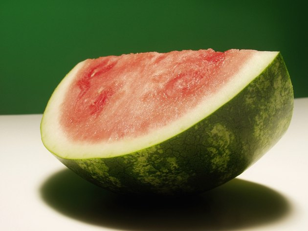 A wedge of watermelon