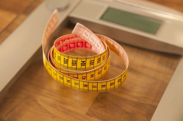 Tape measure and weight scale.