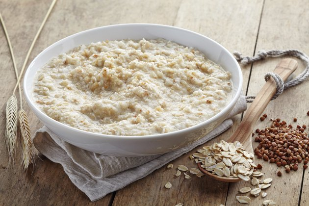 Bowl of various flakes porridge