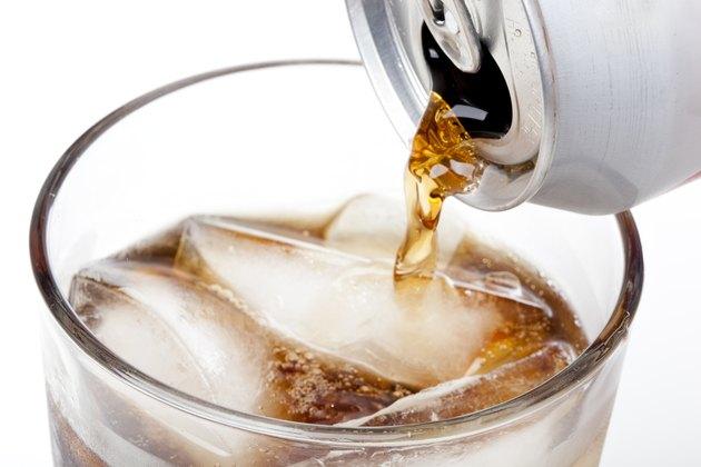 Brown soda in a clear glass