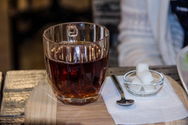 Big cup of black tea
