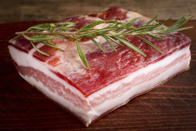 seasoned bacon - italian pancetta