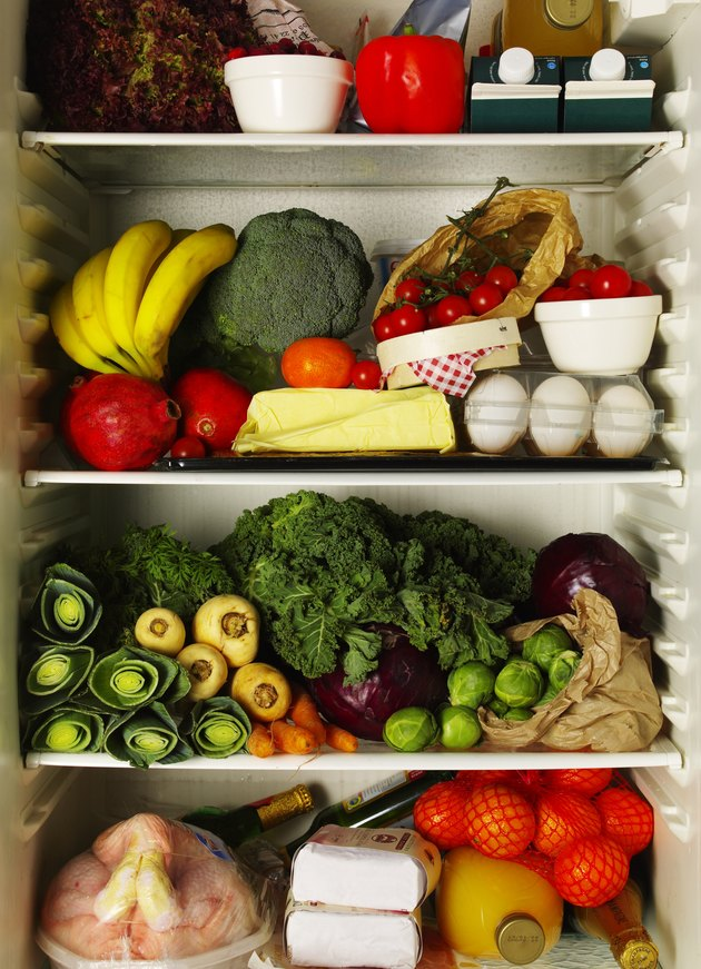 Refrigerator full of ingredients