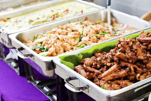 Thailand food buffet.