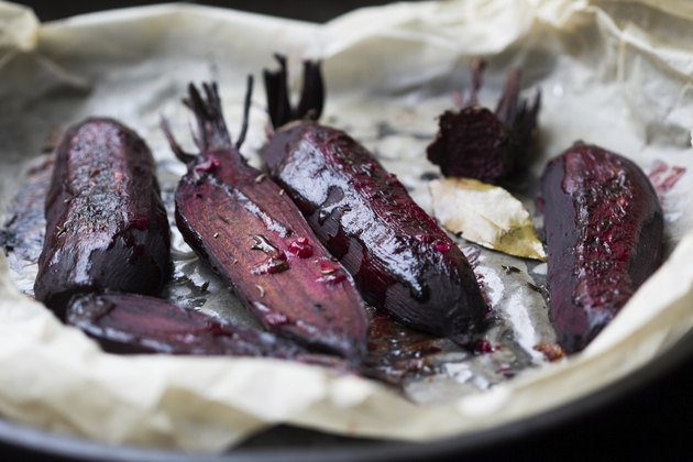 Baked whole beet with olive oil and herbs