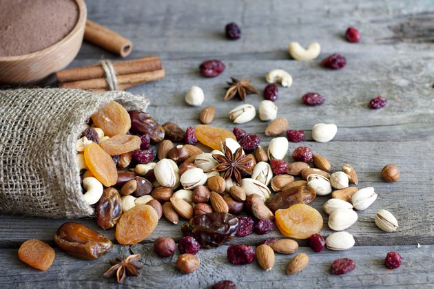 Nuts and dried fruits mixed