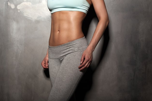 Fitness female woman, muscular body, workout, abs, abdominals