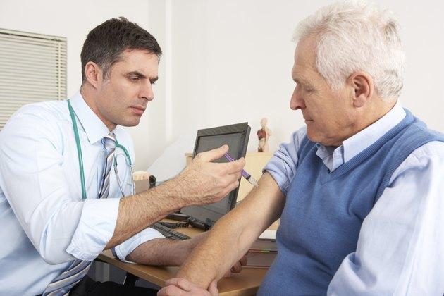 British GP injecting senior man in surgery