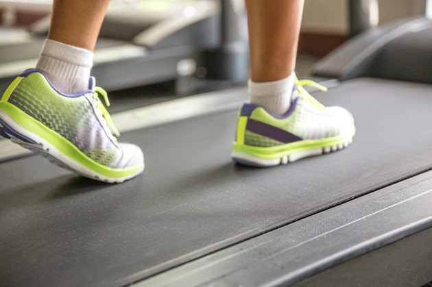 Women runner on the treadmill