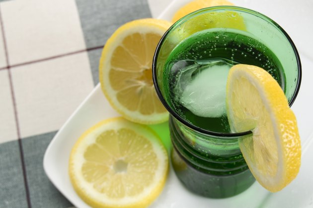 Refreshing Cold Drink with Lemons