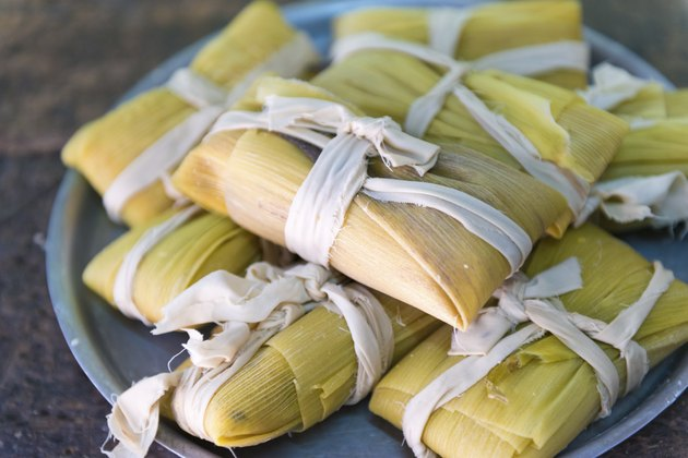 Cuban cuisine: traditional homemade tamales