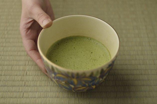 Close up of Japanese tea ceremony