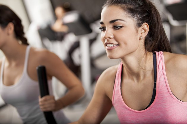 Elliptical training at the gym